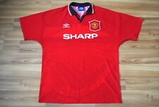 MANCHESTER UNITED 1994-1995 HOME FOOTBALL SOCCER SHIRT JERSEY VINTAGE XL UMBRO