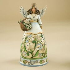 Jim Shore Birthstone & Flower Of The Month Angels-April