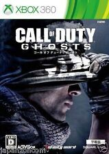 Used Xbox 360 Call of Duty ghost MICROSOFT JAPAN JP JAPANESE JAPONAIS IMPORT