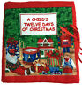 A Childs Twelve Days of Christmas Soft Fabric Cloth Book Finished Baby Book