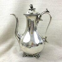 Antik Kaffeekanne Krug Englisch Silber Platte James Dixon Sheffield
