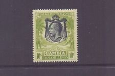 GAMBIA 1922 GV 10/- SAGE-GREEN SG142 MH CAT £85
