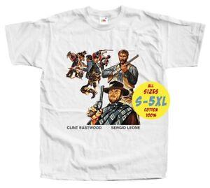 Per un pugno di dolla V1 WESTERN MOVIE PRINT DTG MAN T Shirt All sizes S-5XL