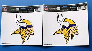"""2 Minnesota Vikings Sticker 4""""x5"""" Multi Use Decal NFL Auto Car Emblem Wincraft"""