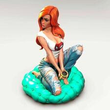 Mary Jane in Sexy Jeans   Miniature Pin Up   1/10 3D Print Figure Garage Kit