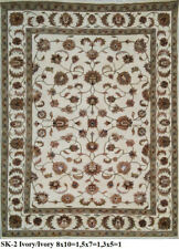 India 90x150 3x5 Hand Knotted Soft Wool Viscose Art Silk Carpet Area Rug
