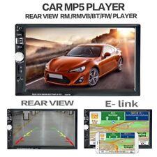 "7""2 DIN FHD Car Stereo Radio Bluetooth MP5 Player FM Touch Mirror GPS USB AUX JW"
