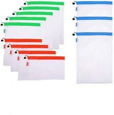 12Pcs Laundry Bags Reusable Product Bags Lightweight Washable Transparent Mesh