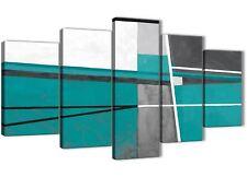 5 PEZZI color foglia di tè grigio dipinto astratto Soggiorno Tela Decor - 5389 - 160 cm