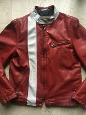 Awesome! Vintage GAP Product Red Leather Moto Jacket_Late 90s/Early 2000s_S