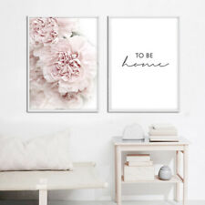 Pink Peony Flower Botanical Poster Nordic Canvas Print Floral Picture Decoration