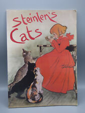 Steinlen's Cats by Francois Fossier (1990, Paperback) Animal Art Drawings