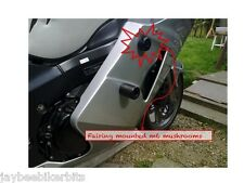 HONDA CBR 1100 BLACKBIRD M6 FAIRING MOUNTED CRASH MUSHROOMS SLIDERS BUNGS   R8C1