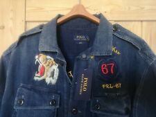 Polo Ralph Lauren Indigo Eastern Fleet souvenir Denim Shirt Jacket L stadium