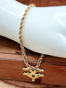 "14k Yellow Gold Rope Chain Bracelet - 8"" - 2.8 Grams 4MM"
