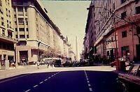 RT11 ORIGINAL KODACHROME 1960s 35MM SLIDE Buenos Aires OBELISK DOWNTOWN TRAFFIC