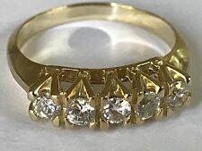 14k Solid RING VINTAGE real Yellow Gold Round manmad Diamond  8.5 6 7 8 9
