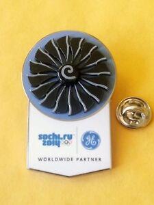 SOCHI 2014 Olympic GE ( General Electric ) moving TURBINE sponsor rare pin