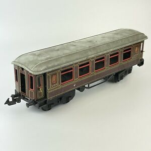 Vintage Tin Plate Bing Railways German LMS Pullman Livery Passenger Coach O