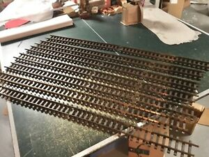 Vintage LGB G SCALE Straight Track w/Orig Box, Six 4',  Two 2' BRASS TRACK