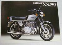YAMAHA XS250 Motorcycle Original Sales Brochure Specification Sheet c1978