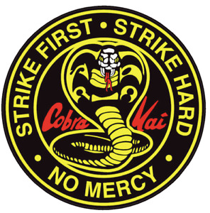 Cobra Kai Full Color bumper sticker vinyl decal Karate Kid Made IN USA