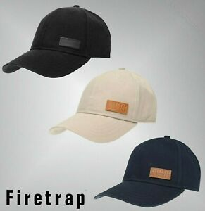 Mens Firetrap Clip Fastening Lightweight Canvas Cap