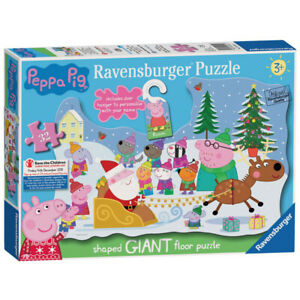 Ravensburger Peppa Pig 05534 Christmas Shaped Giant Floor Jigsaw Puzzle 32 Piece