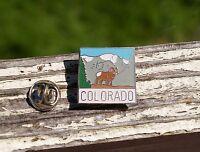 Colorado CO State Mountain Ram Lapel Pin Pinback Silver Tone Metal