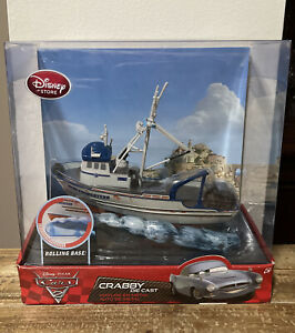 Disney Pixar Cars 2 Crabby Boat With Rolling Base Disney Store Rare!