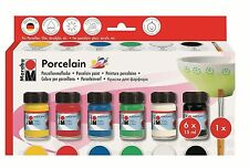 Marabu Porcelain - Ceramic Painting Set (Non Bake) - Assortment ( 110500087 )