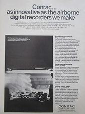 5/1972 PUB CONRAC AIRBORNE DIGITAL RECORDERS ASIP DARS MILITARY AIRCRAFT AD