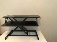 FEZIBO Standing Desk and Height Adjustable - 32 inches Black Desk Converter