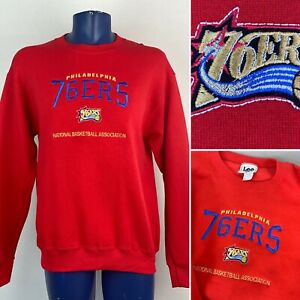 Vintage 90s Philadelphia 76ers Sixers Sweatshirt Mens M Lee Nutmeg Mills USA NOS