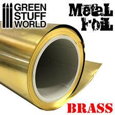 Flexible Metal Foil - Brass - 10x40cm - embossment sheet - Scenery - Hobby