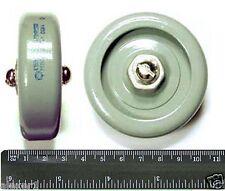 8pcs 470pF 15kV 40kVAR USSR Doorknob Tesla Capacitors K15Y-1 Silver Plated