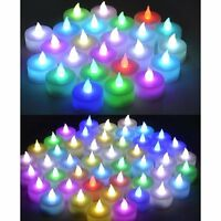 72 Color Changing  Flameless LED Tealight Candle  6-Dozen Battery-powered Candle