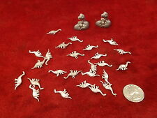 #11 of 21, Lot Of Hand Poured Pewter Or Pot Metal Arts & Crafts, Mini Dinosaurs