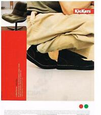 PUBLICITE ADVERTISING  1999     KICKERS   boots homme