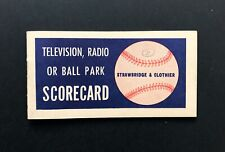 1950 Phillies Whiz Kids Scorecard & Schedule, Vin Scully Debut! Ashburn, Roberts