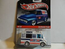 Hot Wheels Slick Rides White Ice Cream Truck w/Real Rider Wheels