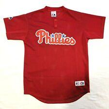 Philadelphia Phillies Majestic MLB Baseball Mesh Jersey Youth Size Medium M