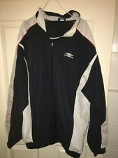 UMBRO VINTAGE/RETRO MENS LARGE BLUE/WHITE LONG SLEEVED JACKET (VG COND)