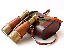 Maritime Victorian 1915 London Brass Leather Binocular Sailor Replica Case Ant