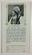 San Francisco Opera Association Vintage Advertising Brochure Maria Mueller 1931