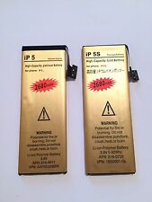 2680mAh High-Capacity Gold Replacement Battery for  iPhone 5/5s+tools