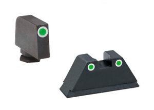 AmeriGlo Suppressor Tritium Night Sight Set W/White Outline For Glock-GL-329