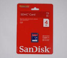 SanDisk 4GB Secure Digital High Capacity (SDHC) Card - New Sealed