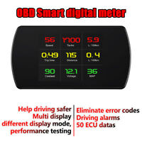 Car Driving data meter fault code scan kilometers & miles switch OBD2 EUOBD Hud