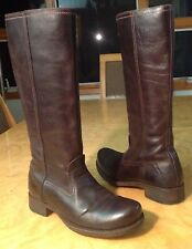 COSTUME NATIONAL WOMENS BROWN LEATHER TALL KNEE HIGH RIDING BOOTS SIZE 7 1/2-8